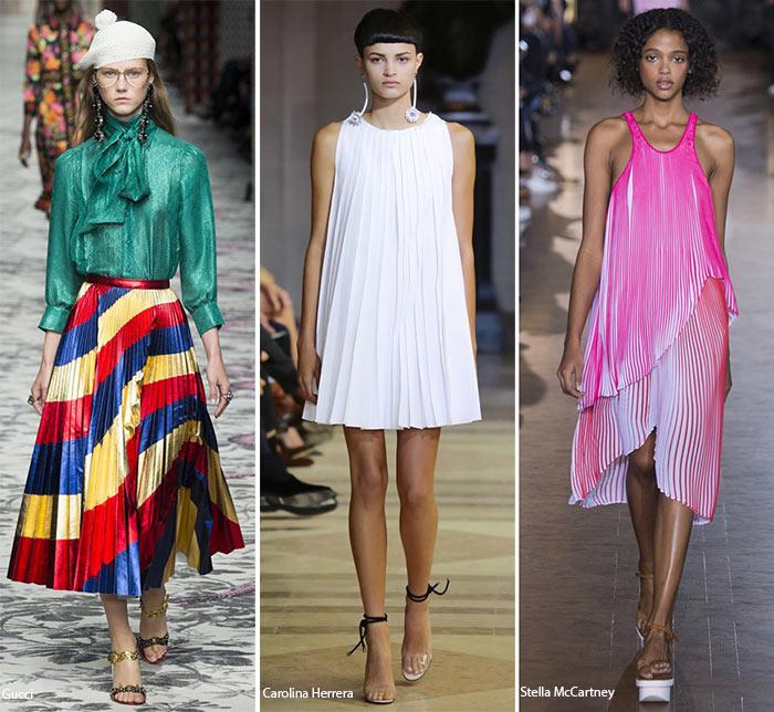 Плиссировка - модные тенденции весна-лето 2016