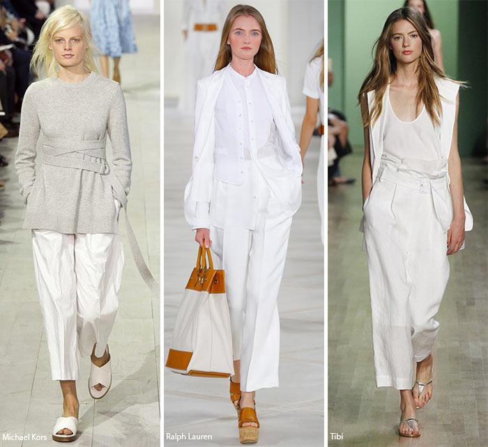 Широкие укороченные брюки - модные тенденции весна-лето 2016
