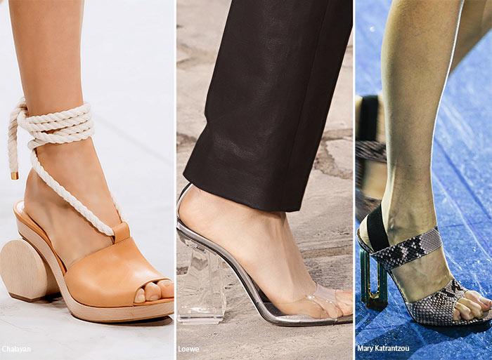 Скульптурные каблуки 2 - тенденции обуви весна/лето 2016