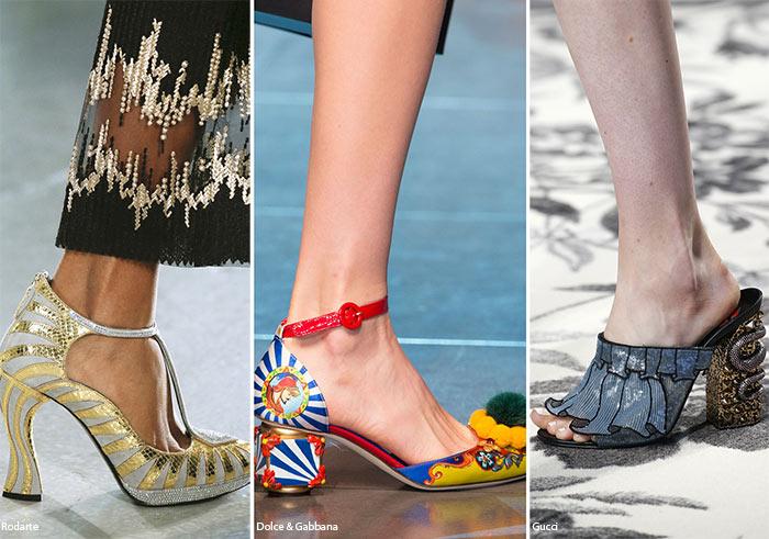 Скульптурные каблуки - тенденции обуви весна/лето 2016