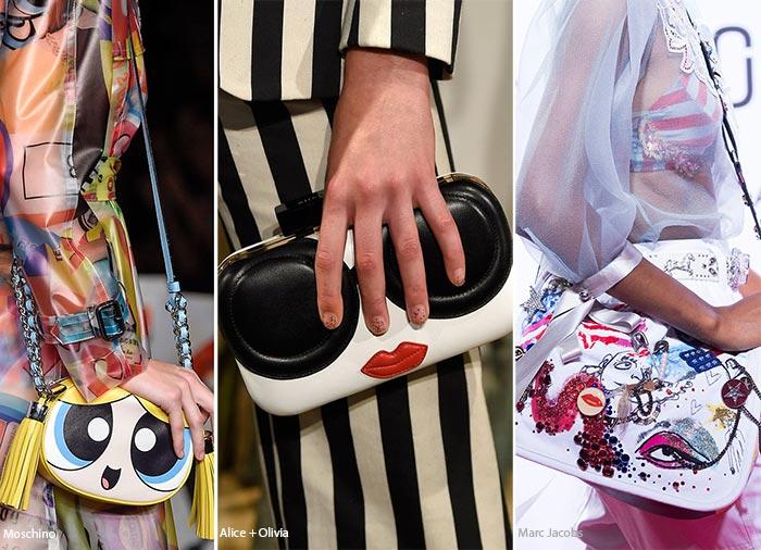 Лица - тенденции в сумках весна/лето 2016