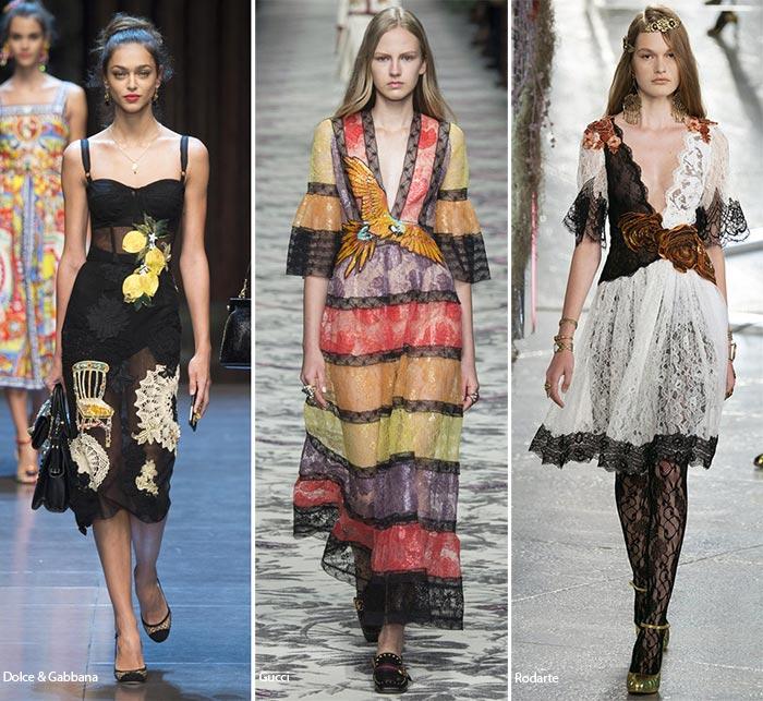 Великолепное кружево - модные тенденции весна-лето 2016