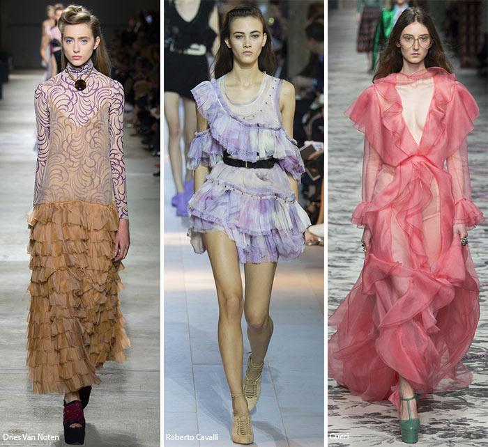 Воланы, оборки и еще раз оборки - модные тенденции весна-лето 2016