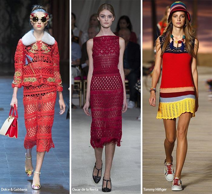 Вязаные крючком платья - модные тенденции весна-лето 2016