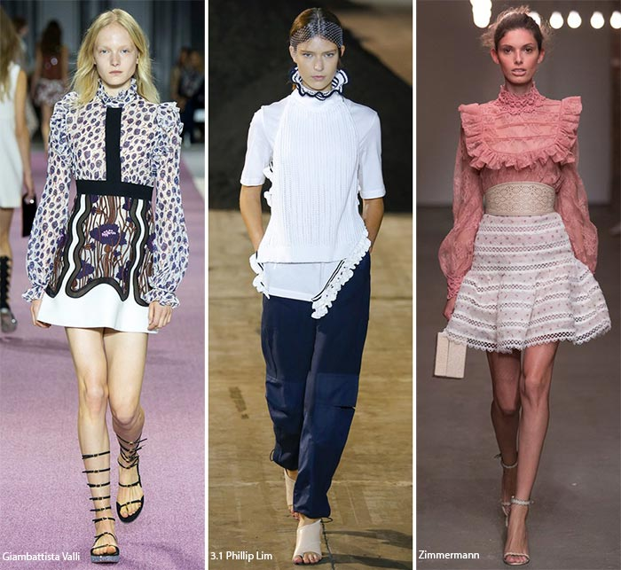 Высокие воротнички - модные тенденции весна-лето 2016