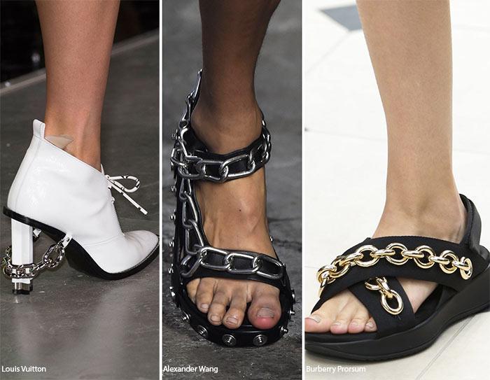 Закованные цепями - тенденции обуви весна/лето 2016