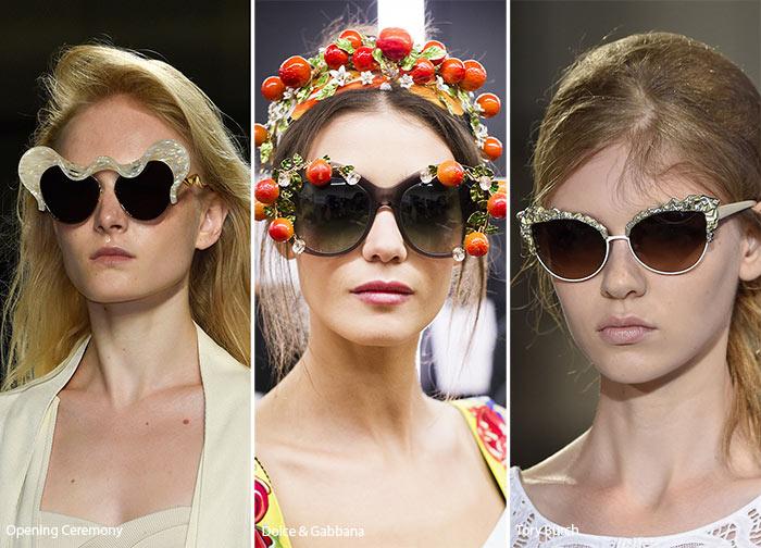 Активный декор - тенденции солнцезащитных очков весна/лето 2016