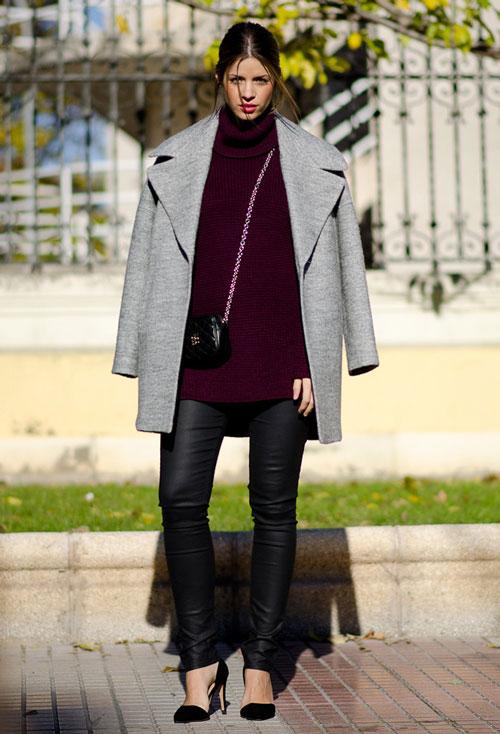 Девушка в коротком зимнем пальто