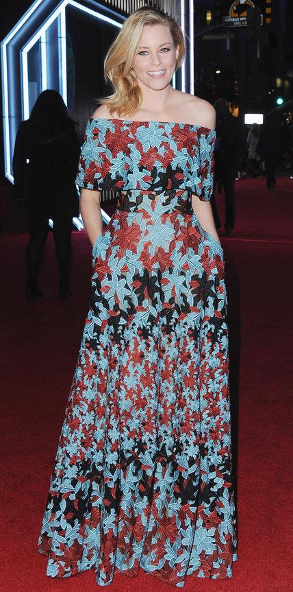 Элизабет Бэнкст в длинном цветочно платье