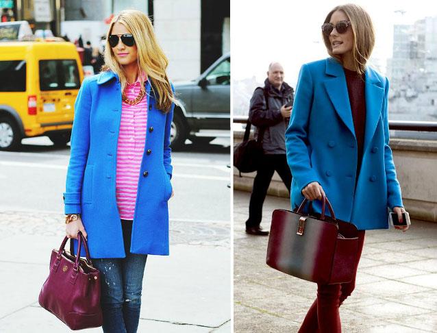 Девушки в синих пальто