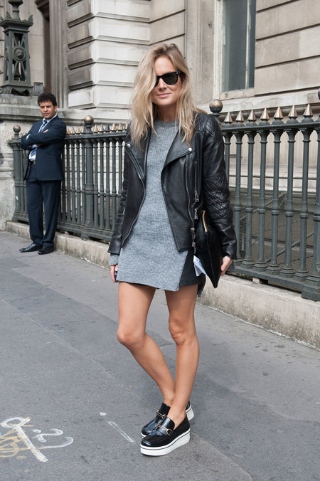 Transitioning-easy-leather-jacket-walkable-flatforms