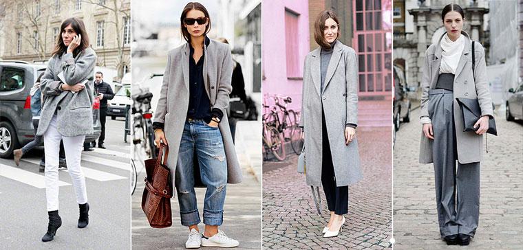 Девушки в серых пальто