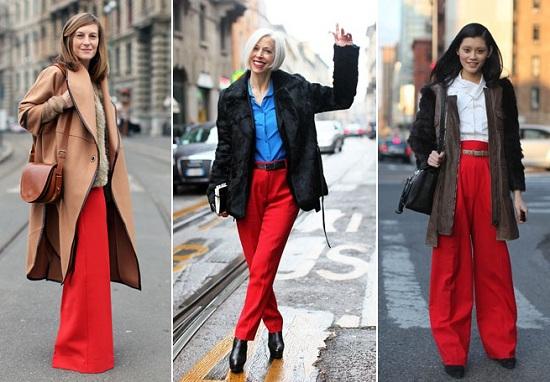 Девушки в красных пальто