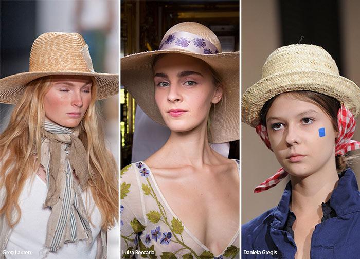 соломенные шляпки - тренды головных уборов весна/лето 2016