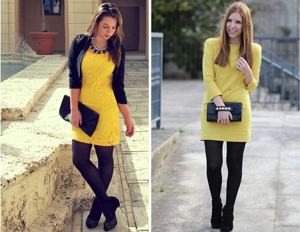 Девушки а желтых колготках фото 193-328