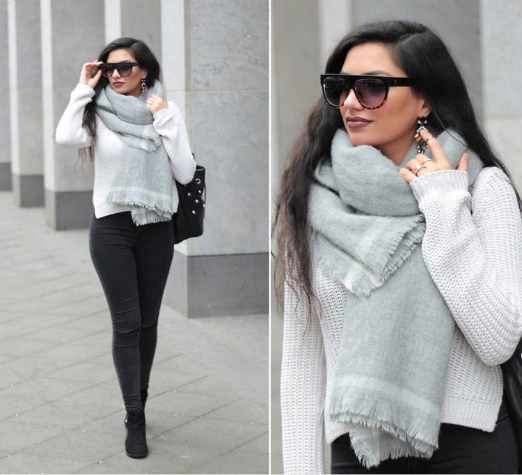 Девушка в джинсах и светлом свитере