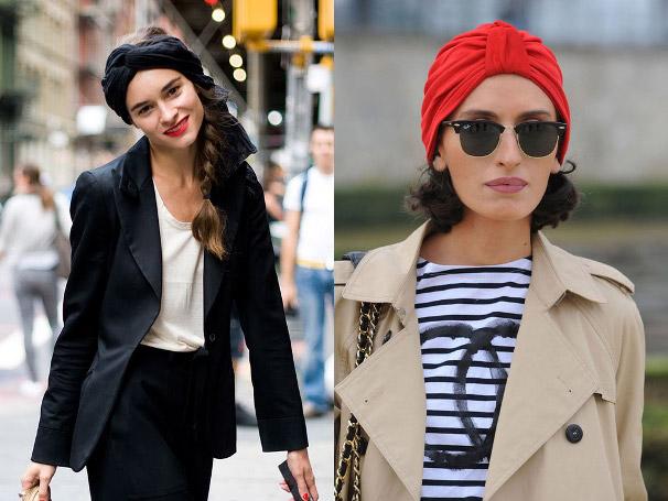 Девушки в разных платках