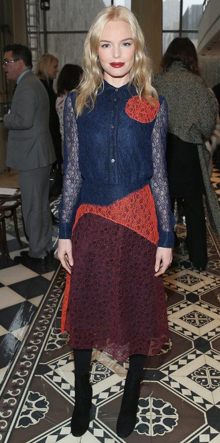 Кейт Босуорт в прикольном разноцветном платье