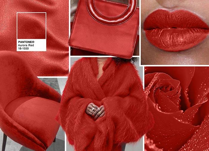 Красная Аврора - модные цвета в одежде на осень 2016