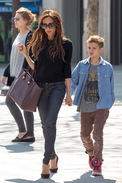 Виктория Бекхем с сыном