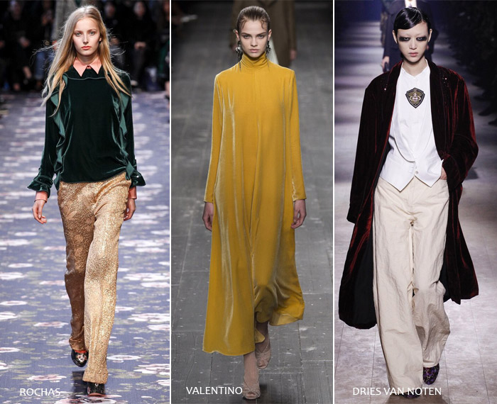Бархат - модные тенденции на осень/зиму 2016-2017 из Парижа