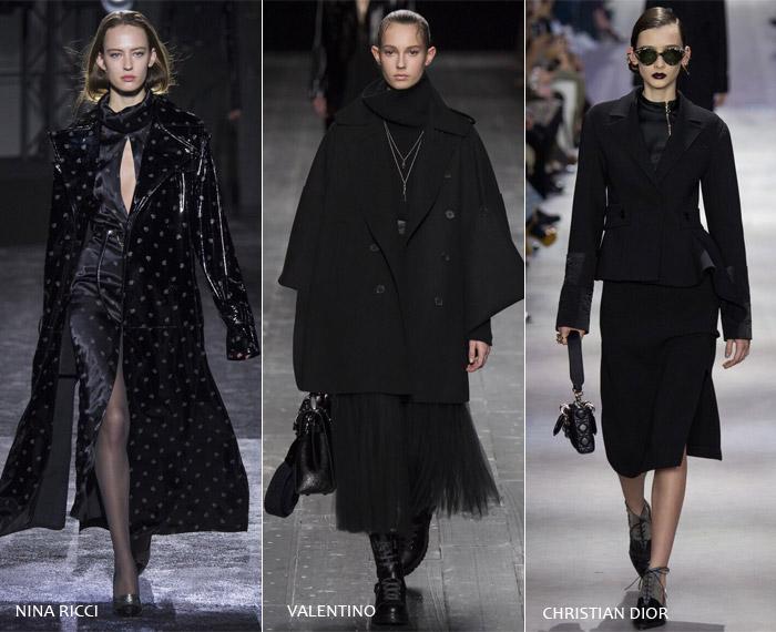 Черный тотал - модные тенденции на осень/зиму 2016-2017 из Парижа