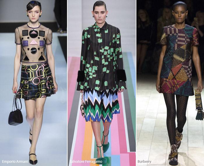 Геометрия - модные тенденции принтов, осень зима 2016-2017