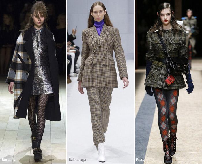 Клетка - модные тенденции принтов, осень зима 2016-2017