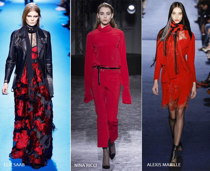Красный взрыв - модные тенденции на осень/зиму 2016-2017 из Парижа