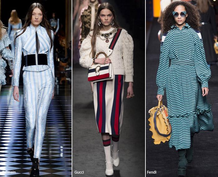 Полоска - модные тенденции принтов, осень зима 2016-2017