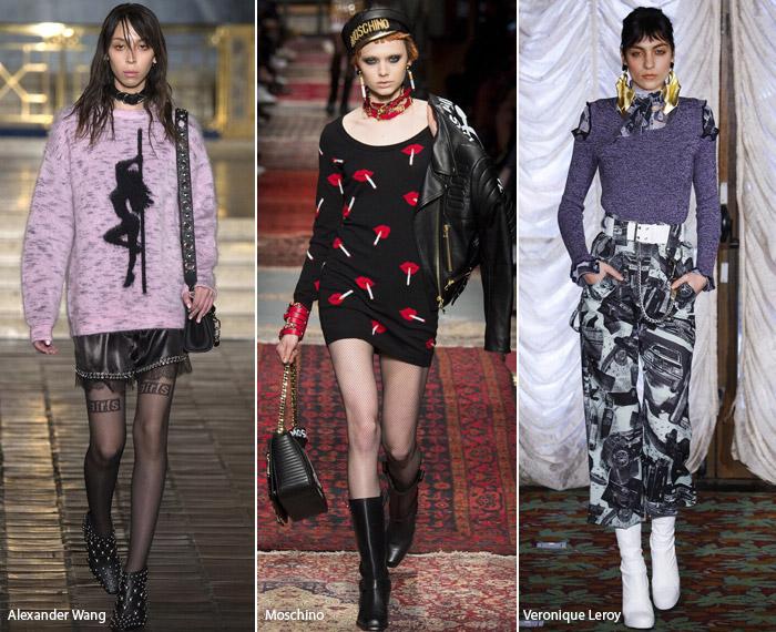 Поп-арт - модные тенденции принтов, осень зима 2016-2017