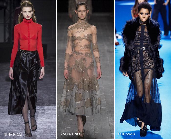 Прозрачность - модные тенденции на осень/зиму 2016-2017 из Парижа