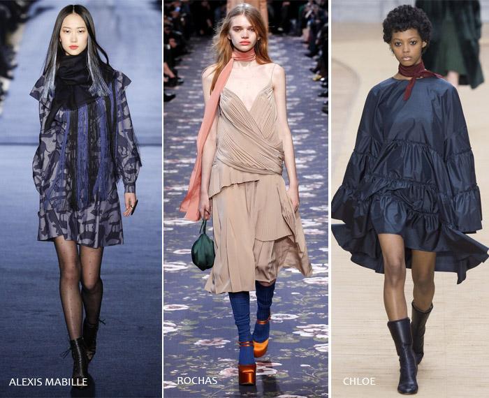 Шелковый шарфик - модные тенденции на осень/зиму 2016-2017 из Парижа