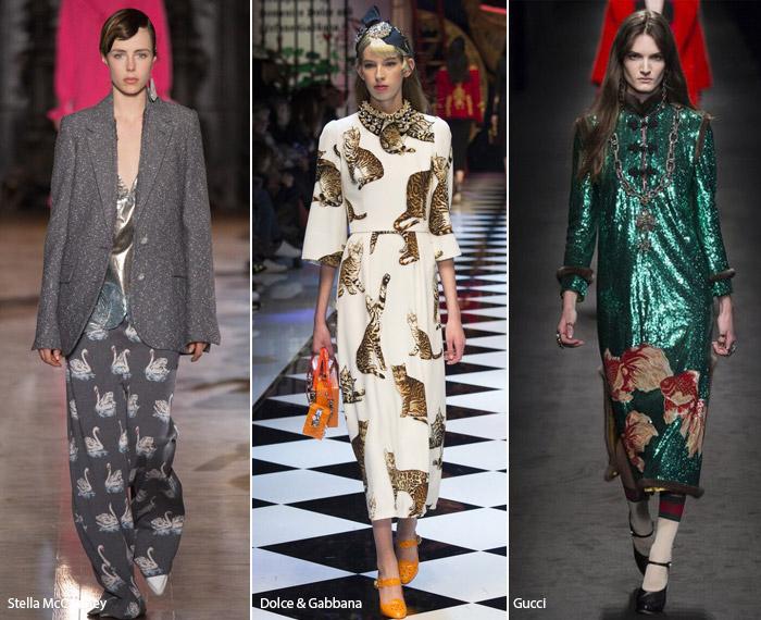 Животные - модные тенденции принтов, осень зима 2016-2017
