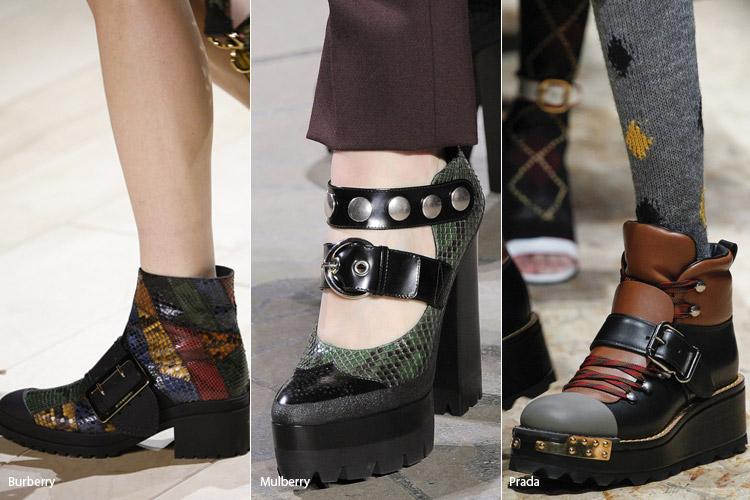 Большие пряжки - модная обувь, тенденции сезона осень 2016 - зима 2017