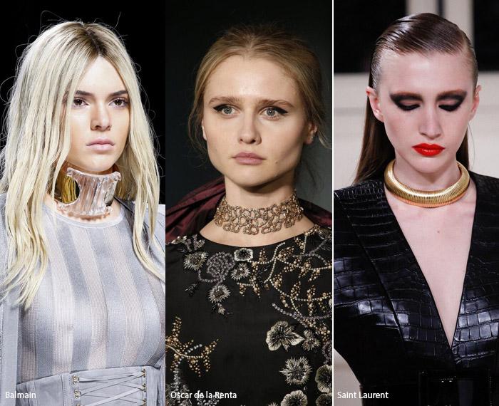 Чокеры - модные тенденции аксессуаров осень/зима 2016-2017