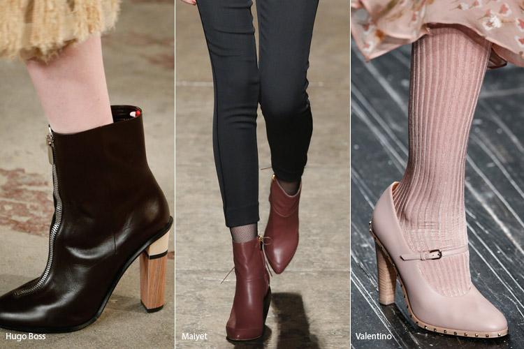 Деревянные каблуки - модная обувь, тенденции сезона осень 2016 - зима 2017