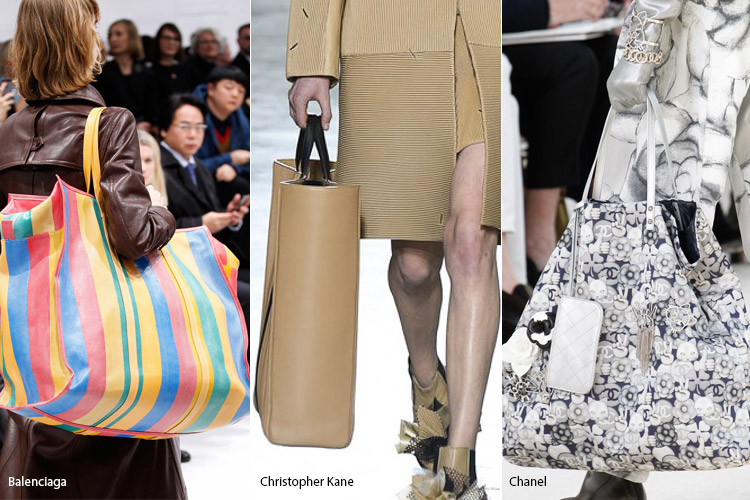 Гигантские сумки - тенденции осень 2016, зима 2017