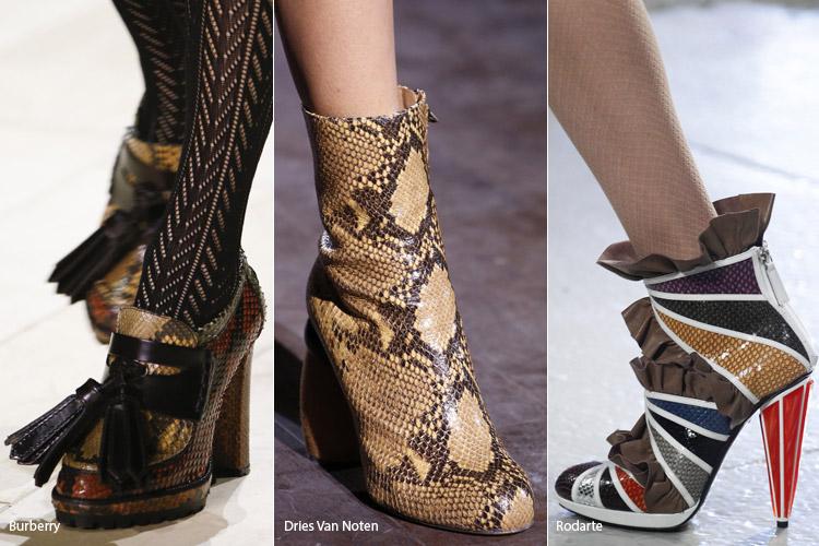 Кожа рептилии - модная обувь, тенденции сезона осень 2016 - зима 2017