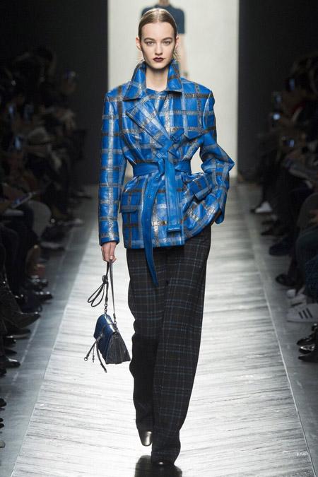 Bottega Veneta - широкие брюки в клетку, модные тенденции осень/зима 2016-2017