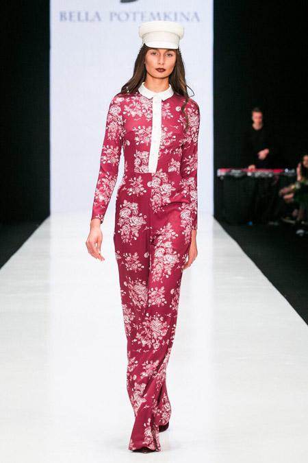 Bella Potemkina - брюки в цветах, модные тенденции осень/зима 2016-2017