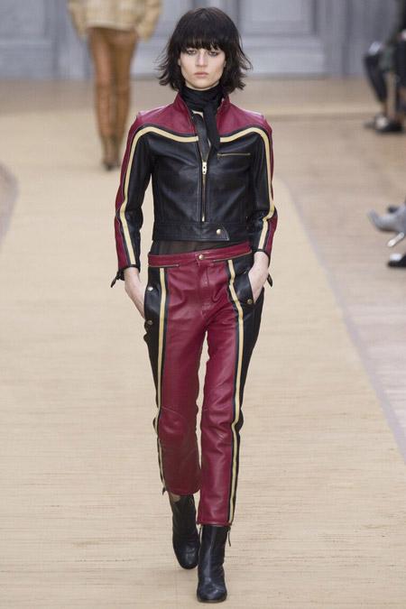 Chloe - кожаные брюки, модные тенденции осень/зима 2016-2017