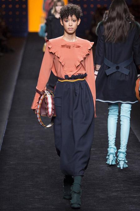 Fendi - модные тенденции в блузках, осень/зима 2016-2017