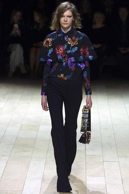 Burberry - модные тенденции в блузках, осень/зима 2016-2017