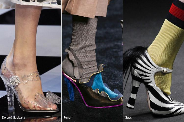 Необычный дизайн - модная обувь, тенденции сезона осень 2016 - зима 2017