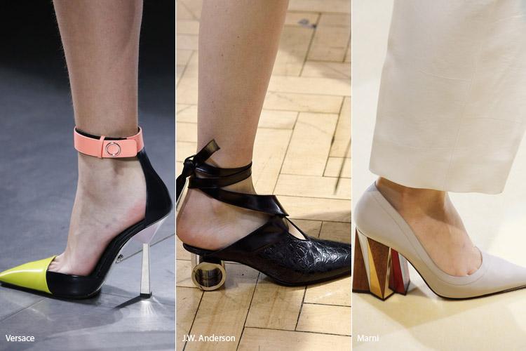 Обувь на скульптурных каблуках 2 - модная обувь, тенденции сезона осень 2016 - зима 2017