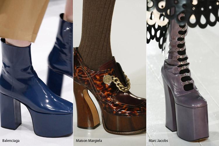 Обувь на высокой платформе - модная обувь, тенденции сезона осень 2016 - зима 2017