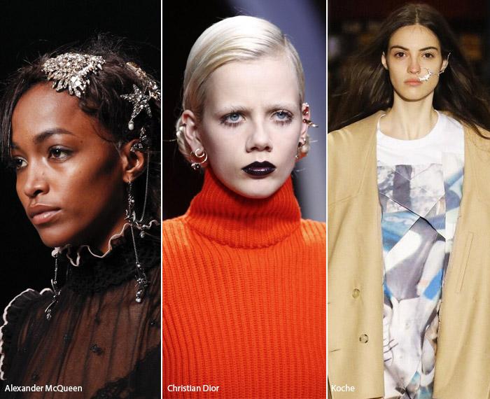 Пирсинг - модные тенденции аксессуаров осень/зима 2016-2017