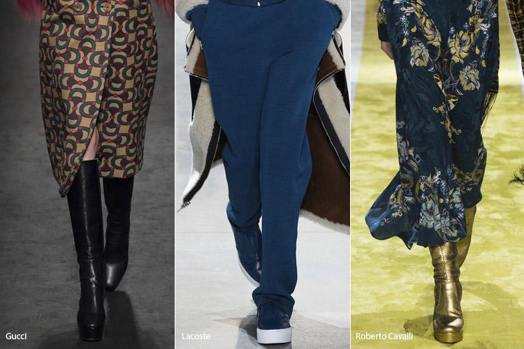 Платформа - модная обувь, тенденции сезона осень 2016 - зима 2017