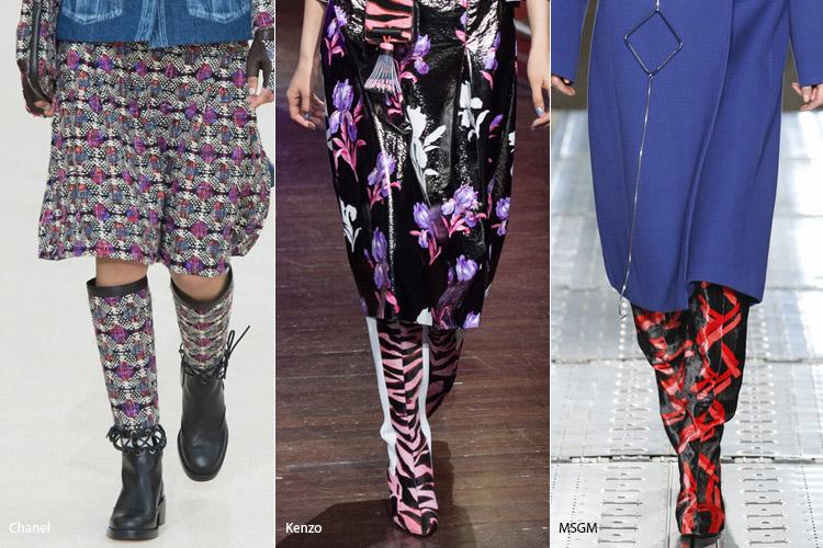 Принты - модная обувь, тенденции сезона осень 2016 - зима 2017